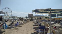 Uitzicht vanaf het prive-strand Grand hotel