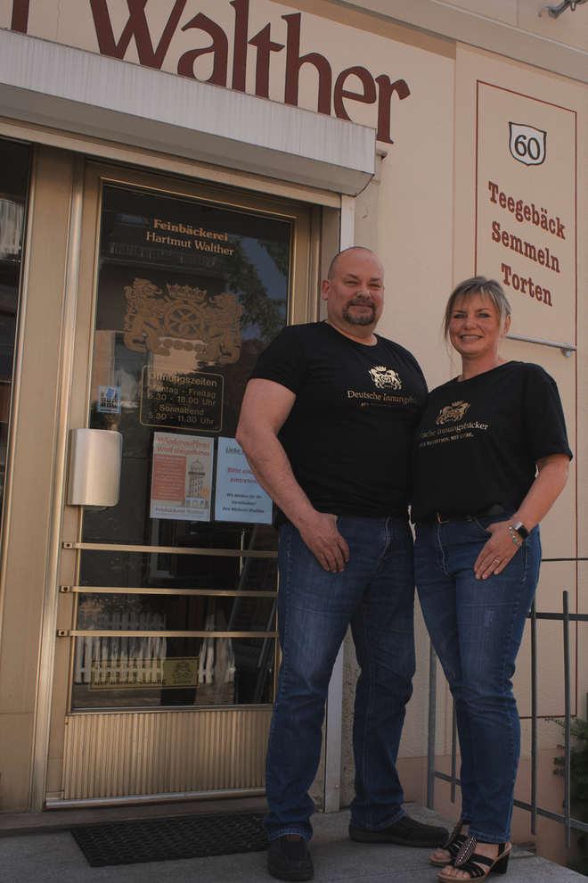 Frank Walther mit seiner Frau Susan 2020