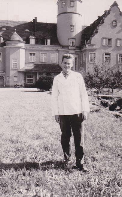 Hartmut Walther als Meisterschüler 1964