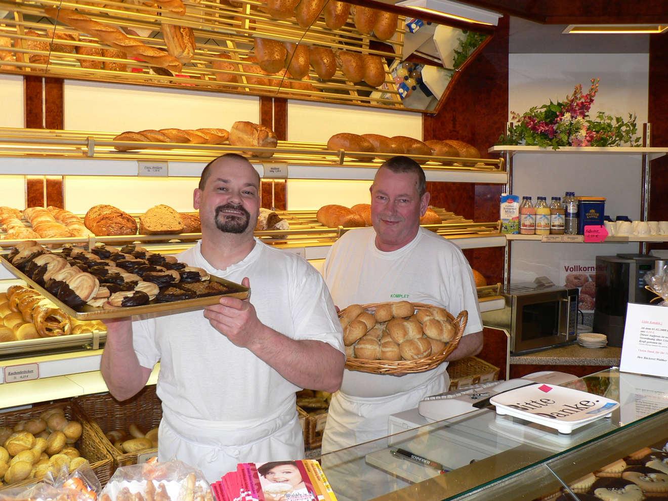 Frank Walther mit seinem Vater Hartmut 2008