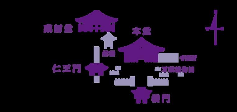 武蔵国分寺境内マップ