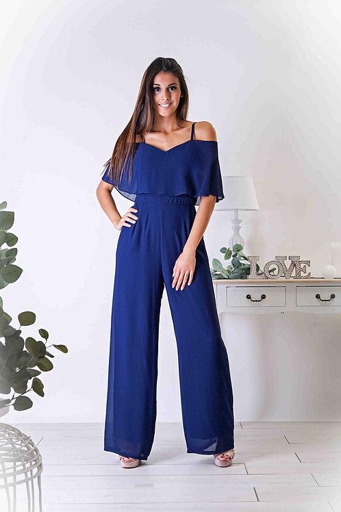 JEANNE ∣ Combinaison pantalon large marine