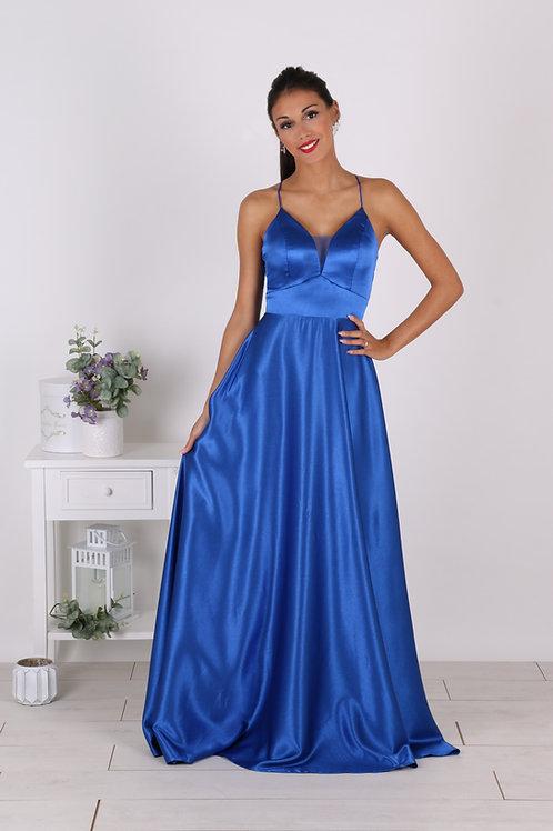 DORIANE ∣ Robe demoiselle d'honneur bleu roi en satin
