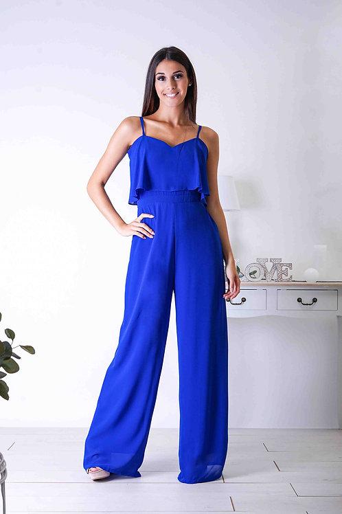 JEANNE ∣ Combinaison pantalon large bleu roi