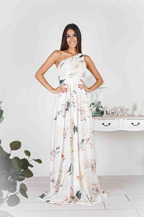 ELSIE  ∣ Robe longue blanche à imprimé fleuri