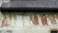 """""""La danza macabra"""" - Affresco 1500 ca dei Baschenis - Chiesa di S.Vigilio a Pinzolo (TN)"""