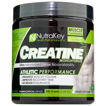 NutraKey Creatine Monohydrate 300g Powder