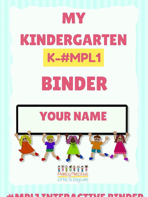 My Kindergarten Binder