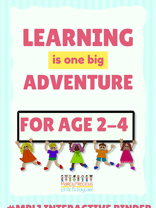 Interactive learning binder for ages 2-4