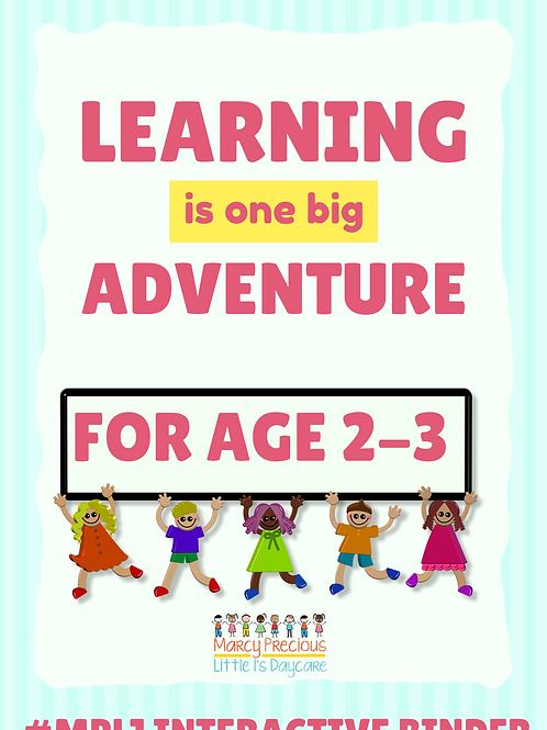 Interactive learning binder ages 2-3