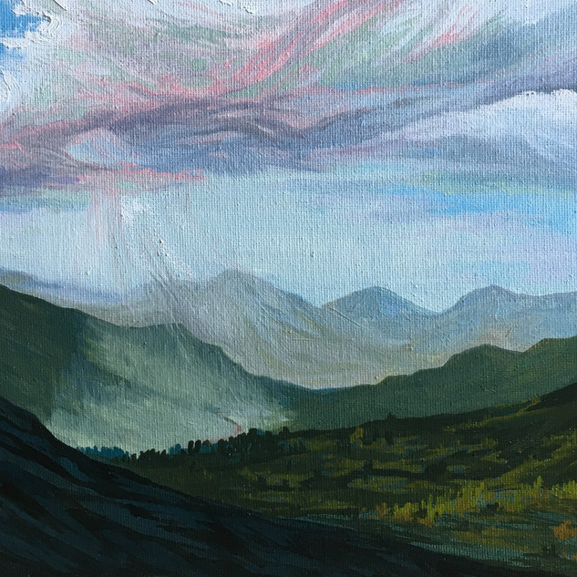 Rain Across the Foothills