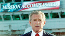 "BREAKING: Bush Reveals He Was Being Sarcastic During ""Mission Accomplished"" Speech"