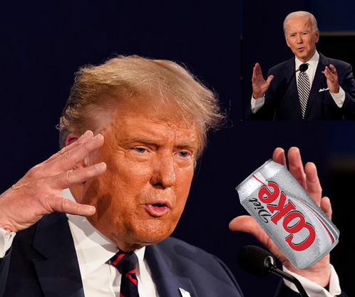 Trump Demands In Person Debate, Handshakes And That Biden And Him Share A Single Diet Coke