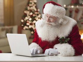 Frantic Father Christmas Rushes to Complete Amazon Order Before 2-Day Prime Delivery Window Closes
