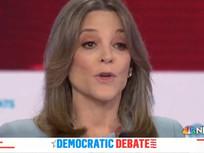 Mysterious Woman Commandeered Spare Podium During Democratic Debate