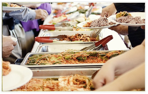 Excess Food At Local Homeless Shelter Donated To Still Hungry All-You-Can-Eat Buffet Patrons After T