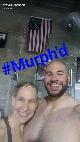 Coach Lona spotted with the Hulk himself during Hero WOD Murph a couple years back!