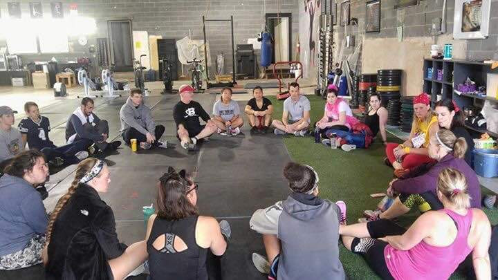 Madison Heights Misfits circled around during PrayerFit! Faith is our main motivation!