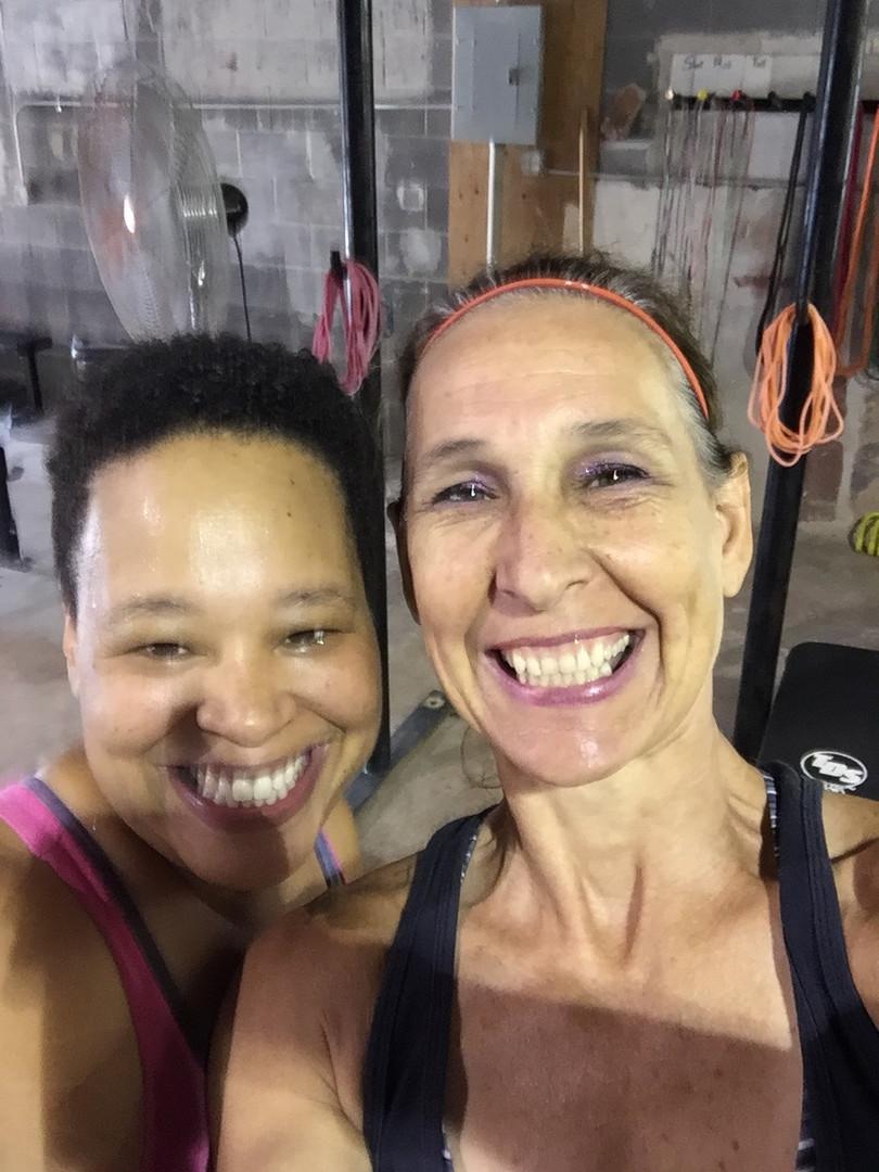 Coach Lona with Misfit athlete Trina!