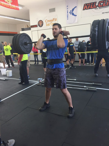 Coach Ben Phaup competing at the Festivus Games a couple years ago. At this competition, Ben and his brother-in-law, Alex Motley, took home 1st place!