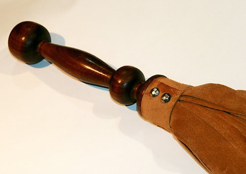 Tan Leather Suede & Walnut Flogger