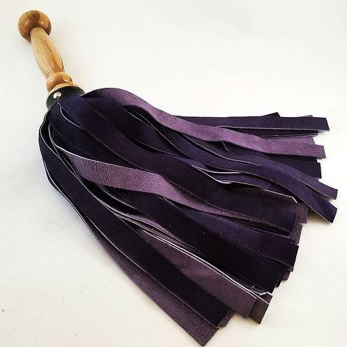 Fuzzy Purple Leather Flogger (aka Death to Smoochy)