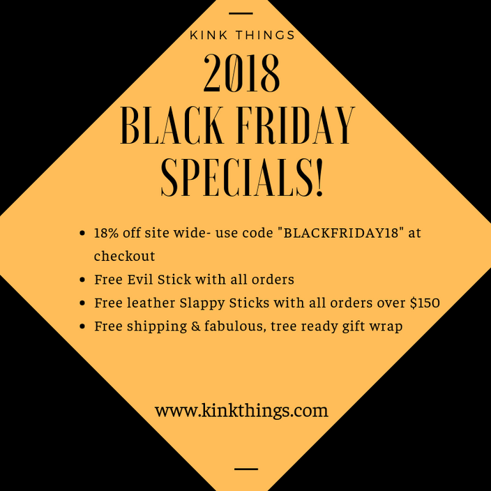 Kink Things Black Friday Weekend Specials!