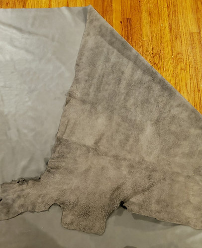 Pewter Leather Blanket