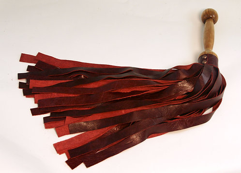 Distressed Red & Ambrosia Maple Flogger