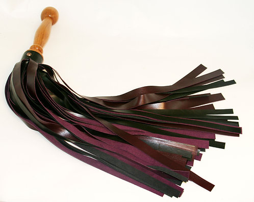 Deep Black & Purple Rosewood Cherry Flogger