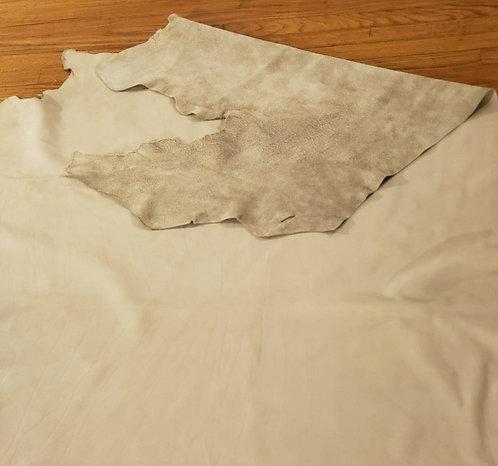 Grey Tan Leather Shawl