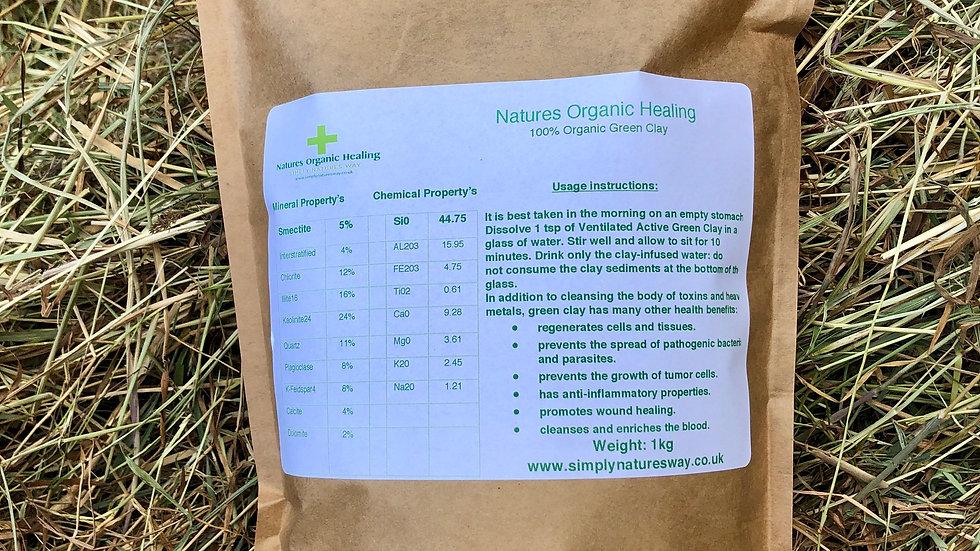 Natures Organic Healing Clay 1kg