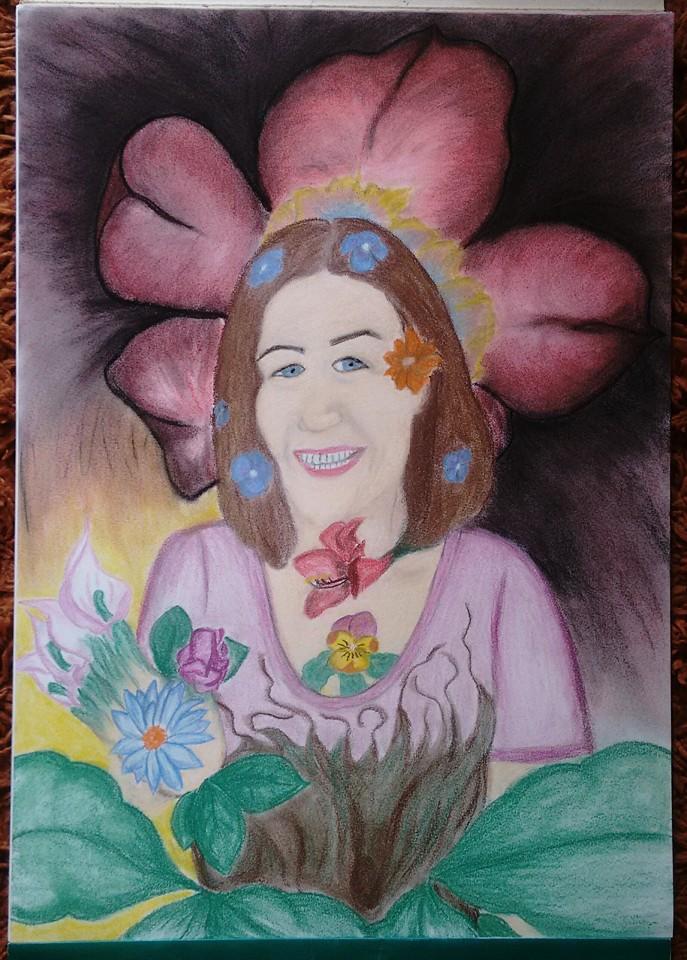 Híbrido de mãe com flor