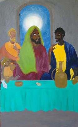 Jesus entre Judas e João