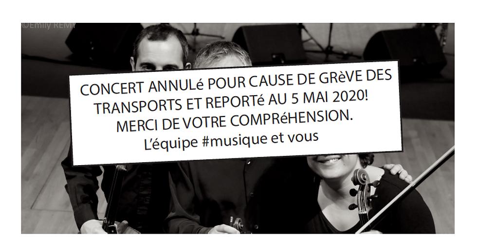 INFORMATION IMPORTANTE: CONCERT DU 5 DéCEMBRE AU THéÂTRE ANNULé et reporté au 5 MAI 2020 !!!