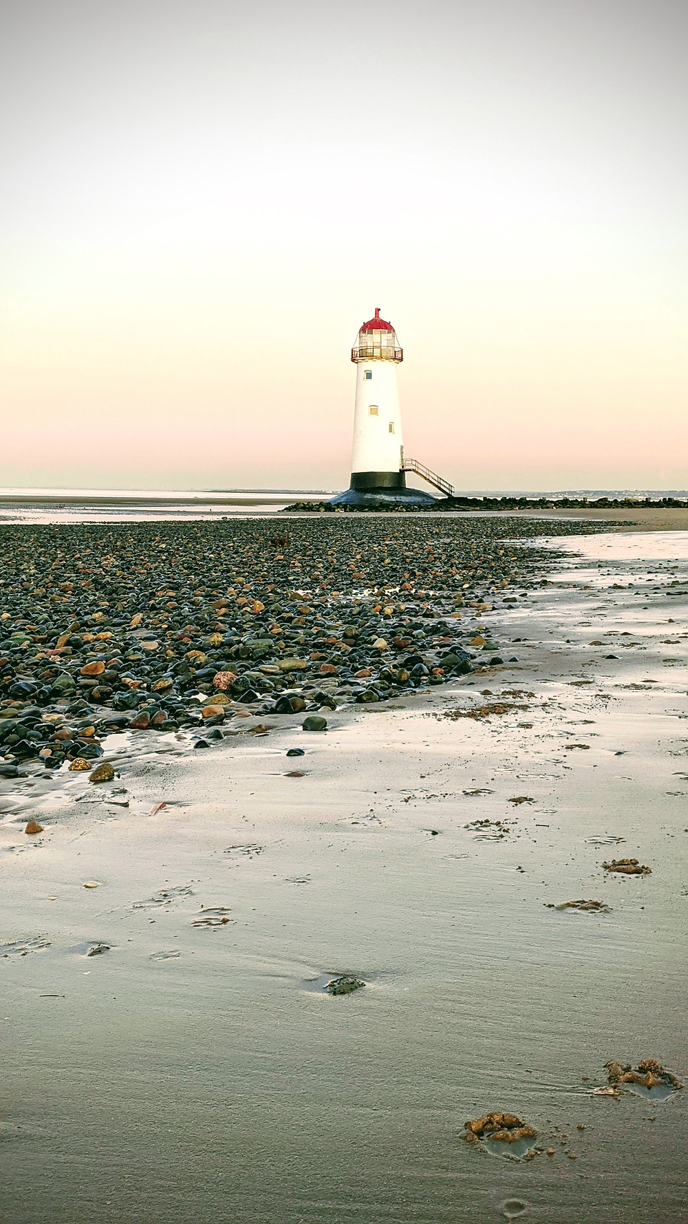 The grade II listed lighthouse at Talacre