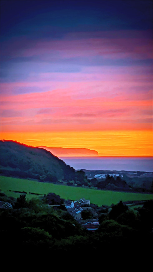Sunset over the Great Orme