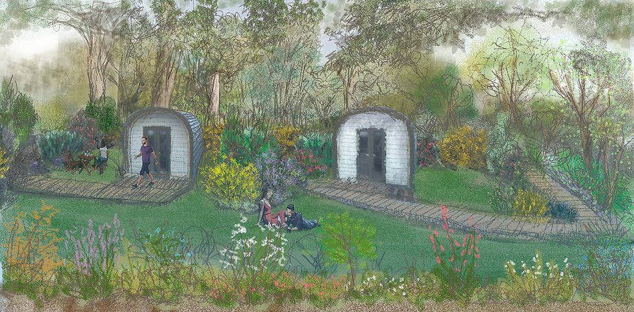 Emlyn's Coppice artist impression by Niki Holmes at Art Emphasis
