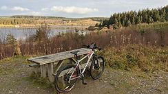 Cycling at Llyn Brenig