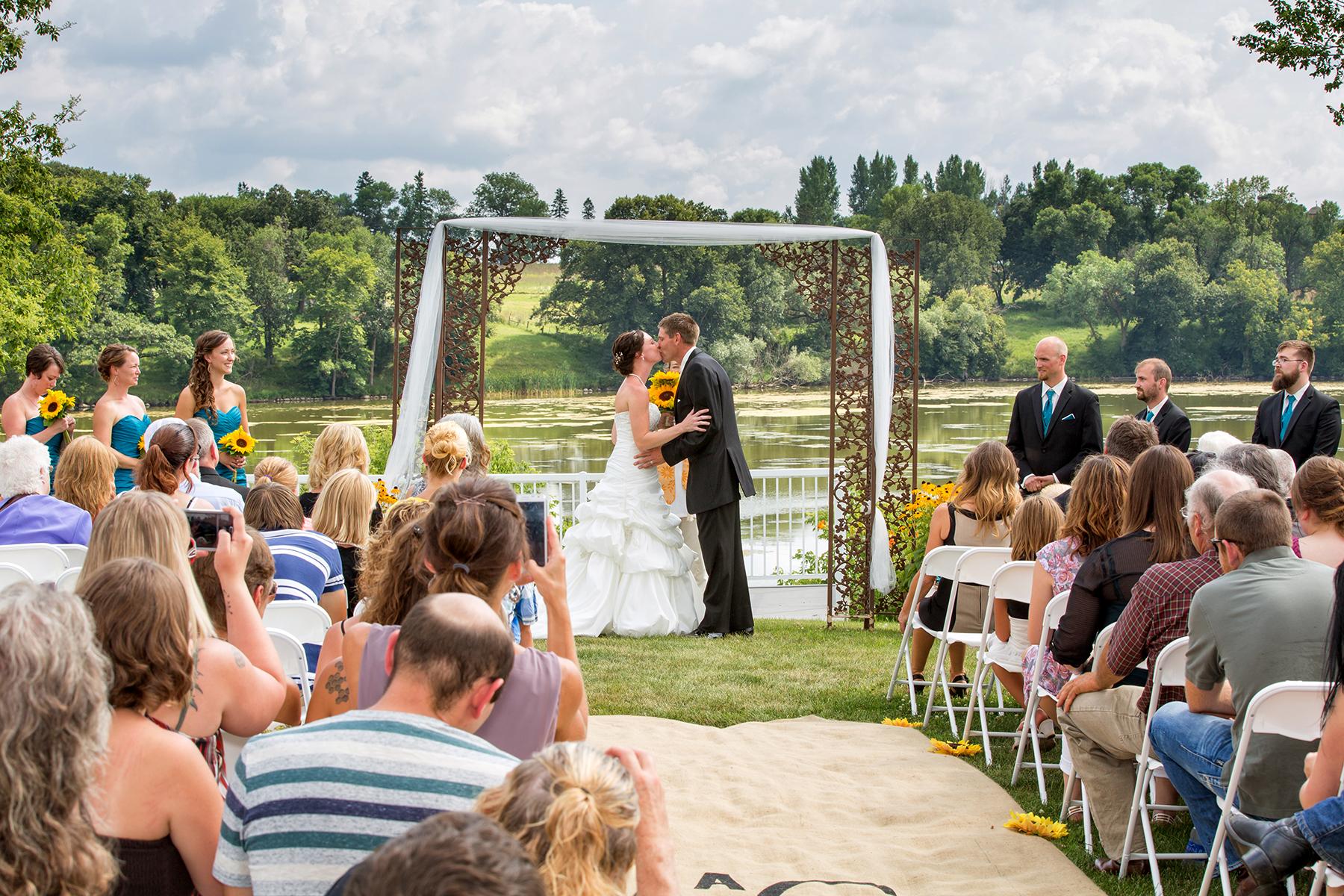 Outdoor wedding ceremony photo