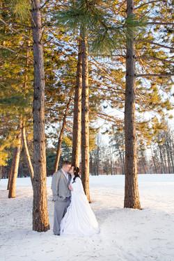 Craguns winter wedding mn