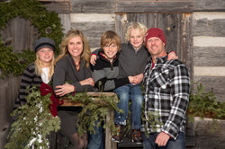 Holiday card family portrait session