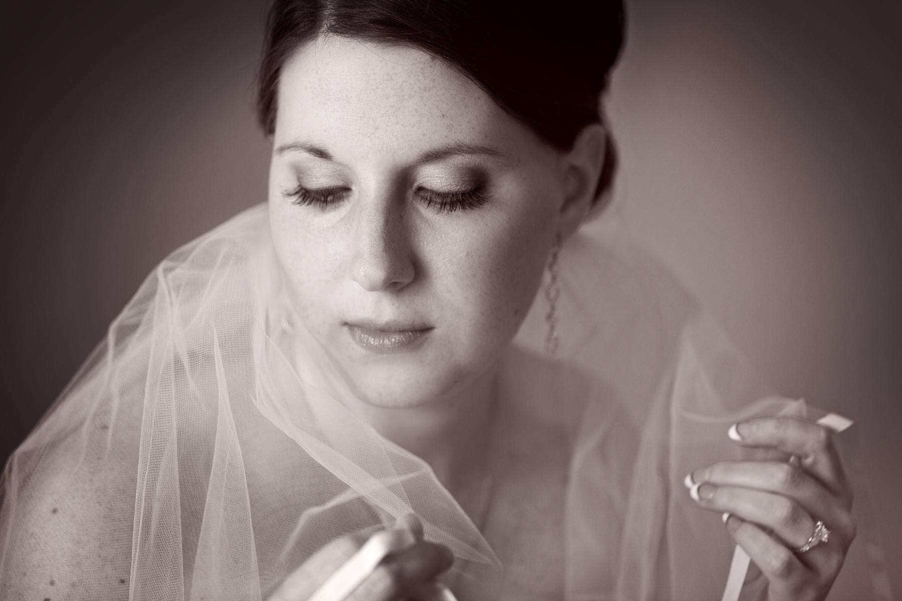 Artistic Bridal Portrait Photo
