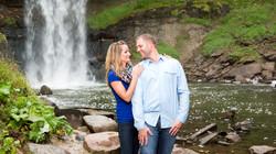 Minnehaha Falls engagement photography MN