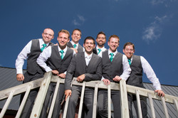 Fun groomsmen group photo idea