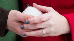 Engagement Ring Snowball St Paul MN Photo