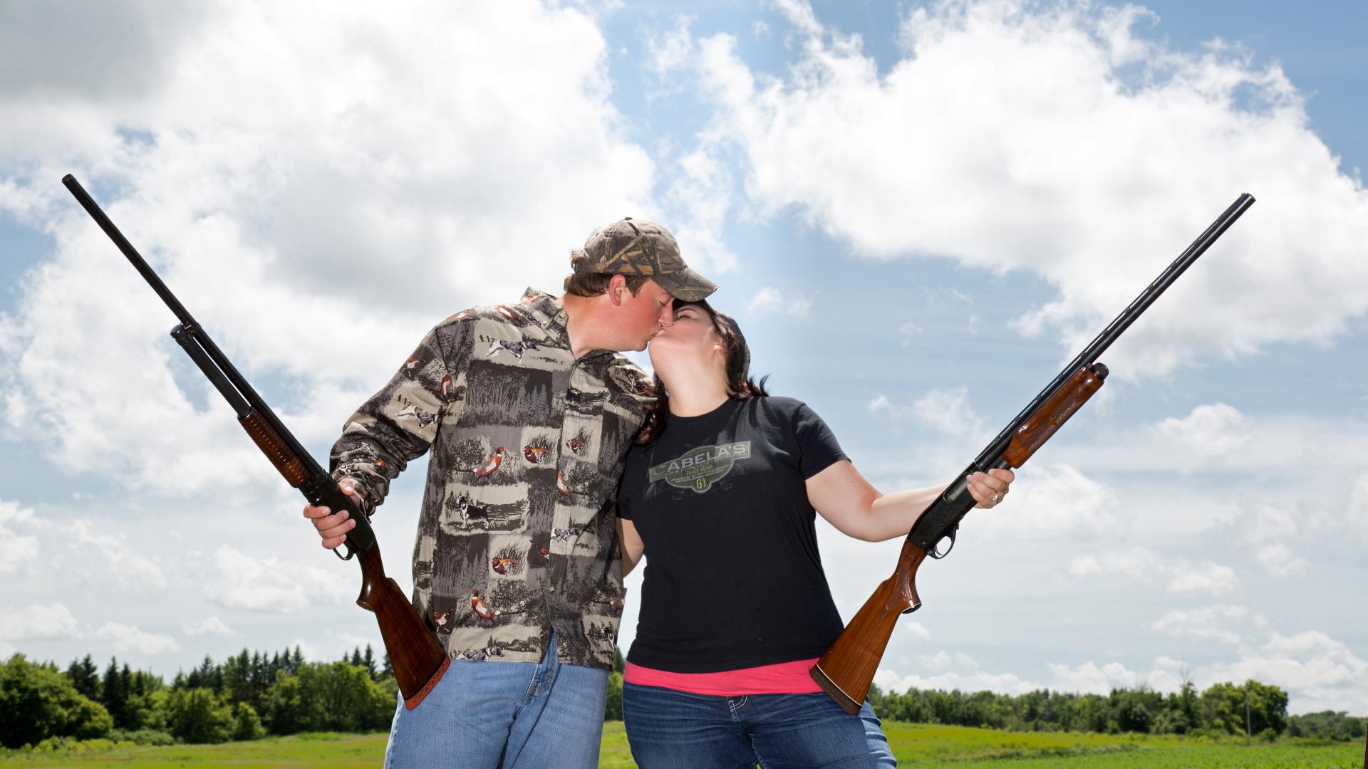 Gun engagement session photography