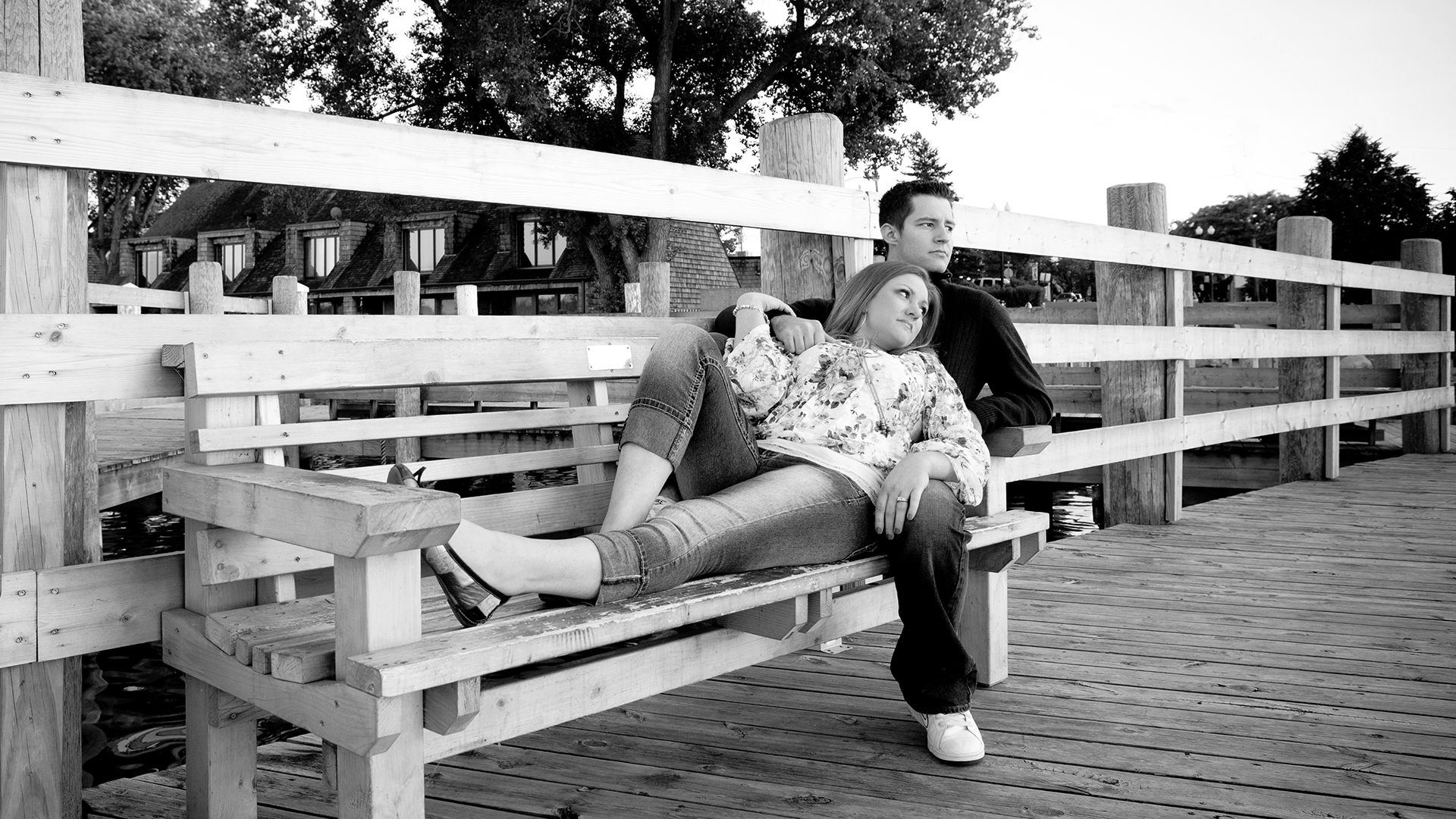 Black and White Engagement Photography MN