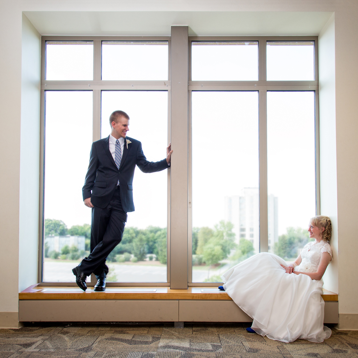 ST Olaf University wedding window
