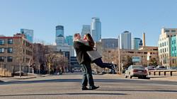Minneapolis Skyline Engagement Photography